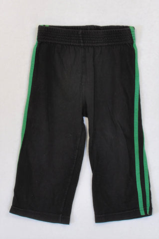Gymboree Black Green Striped Pants Boys 12-18 months