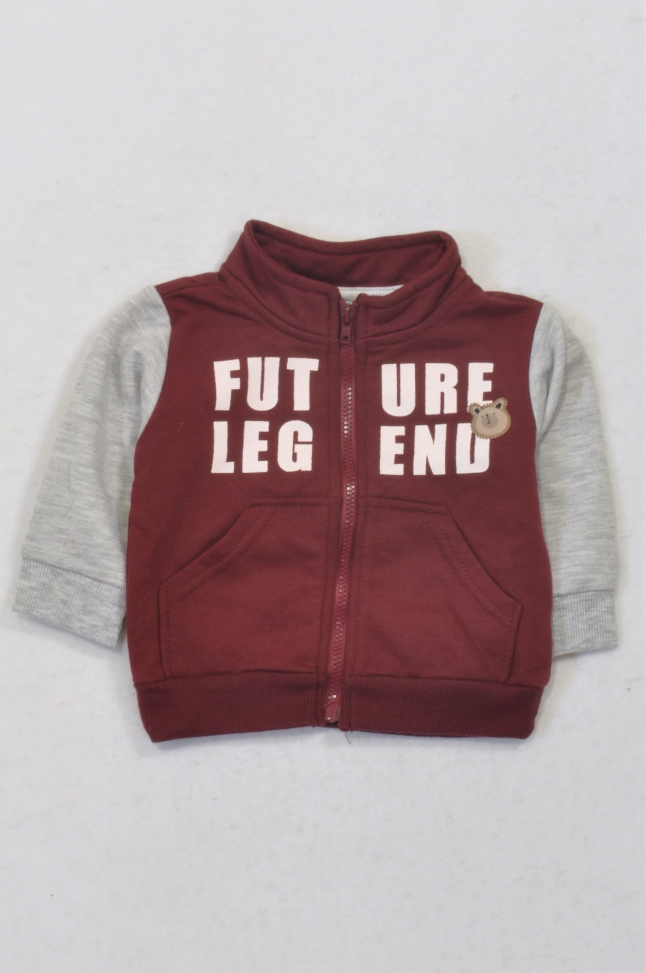 Ackermans Maroon & Grey Future Legend Jacket Boys 0-3 months