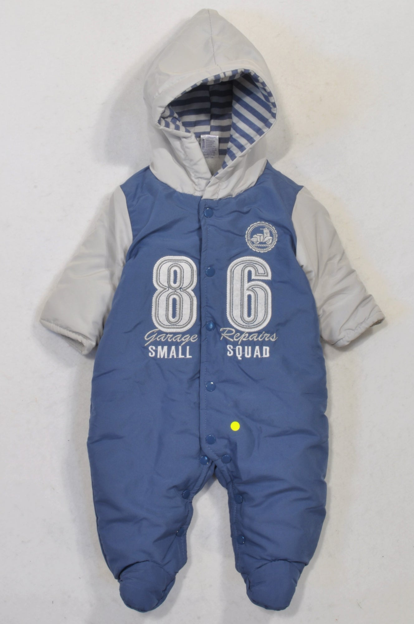 Ackermans Blue & Grey 86 Padded Snow Suit Boys 0-3 months