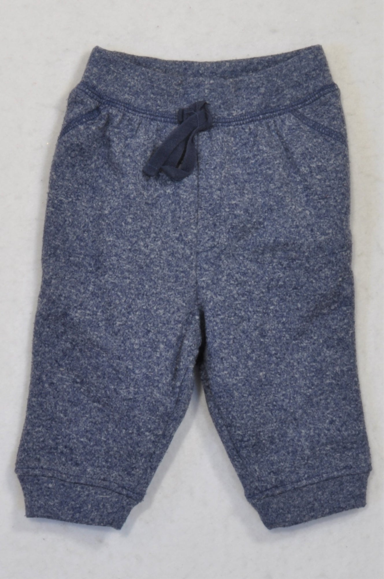 Ackermans Blue Heathered Pants Boys 3-6 months