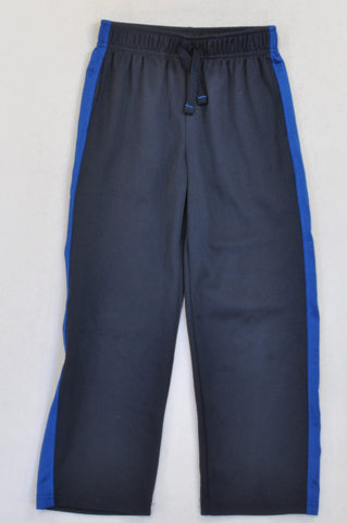 Jumping Beans Navy & Blue Stripe Track Pants Boys 6-7 years