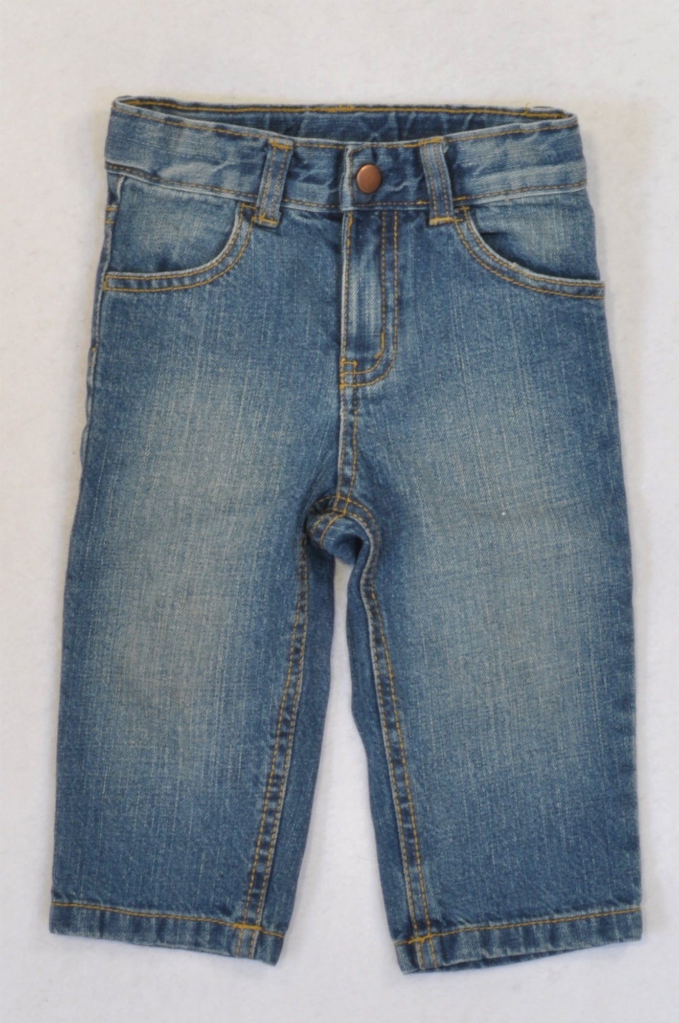 Gymboree Stone Washed Brown Stitch Jeans Boys 12-18 months