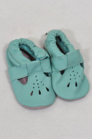 New Shooshoos Size 2 Aqua Baby Doll Cut Out Shoes Girls 6-12 months