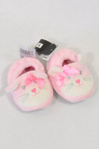 2274b13d9f92 New Woolworths Size 1 Pink Mouse Bow Slippers Girls 3-6 months