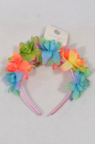New Primark Bright Flower Headband Girls All Ages