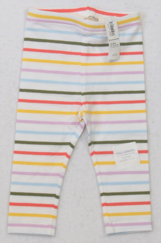 New Old Navy Multi-colour Stripe Leggings Girls 12-18 months