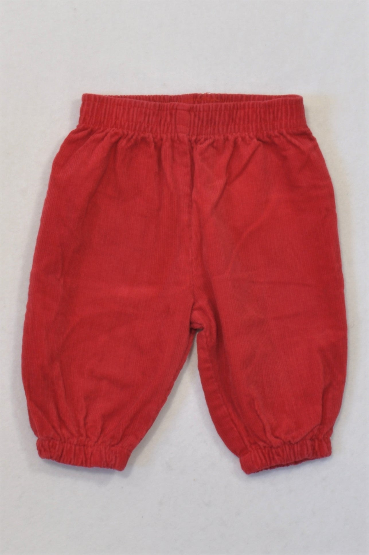 Ackermans Red Corduroy Cuffed Pants Unisex 0-3 months