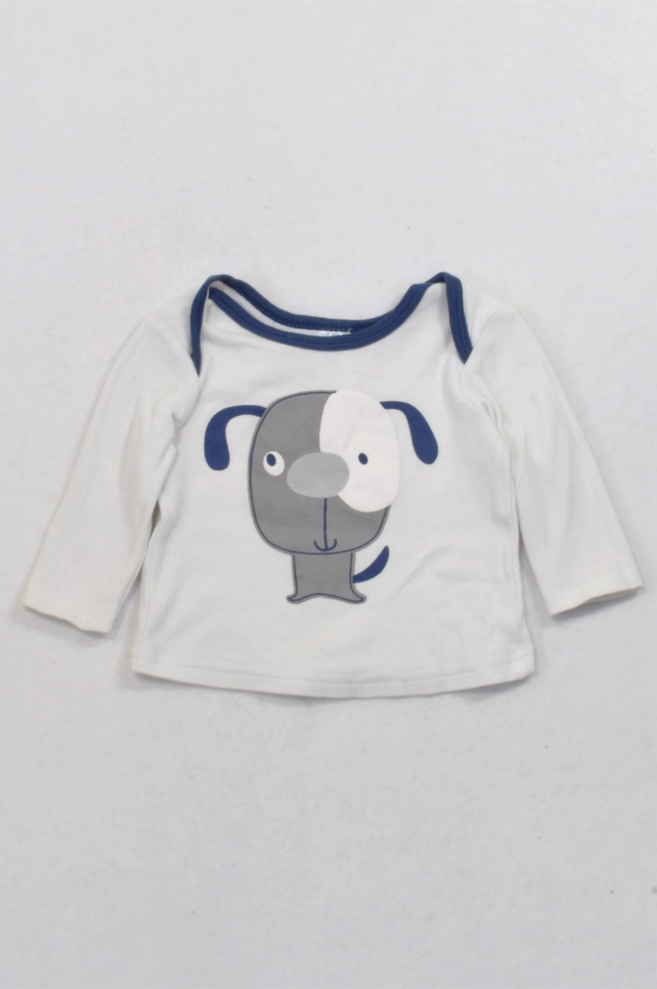 Ackermans Blue Doggy T-shirt Boys 0-3 months