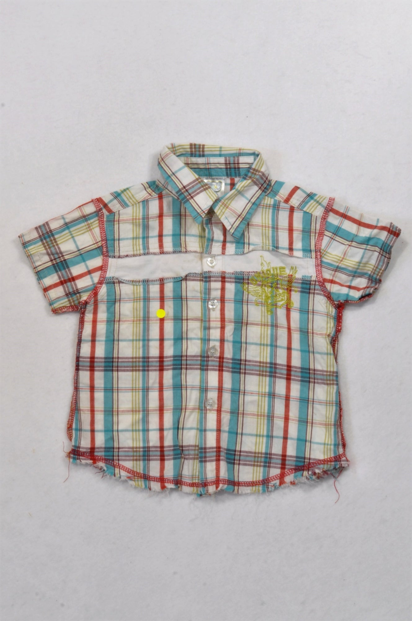 Ackermans Multicolored Frayed Trim Shirt Boys 12-18 months