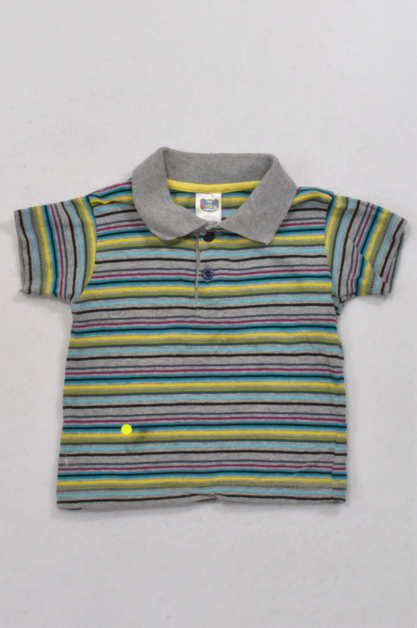 Ackermans Multicolored Stripe Golf Shirt Boys 6-12 months