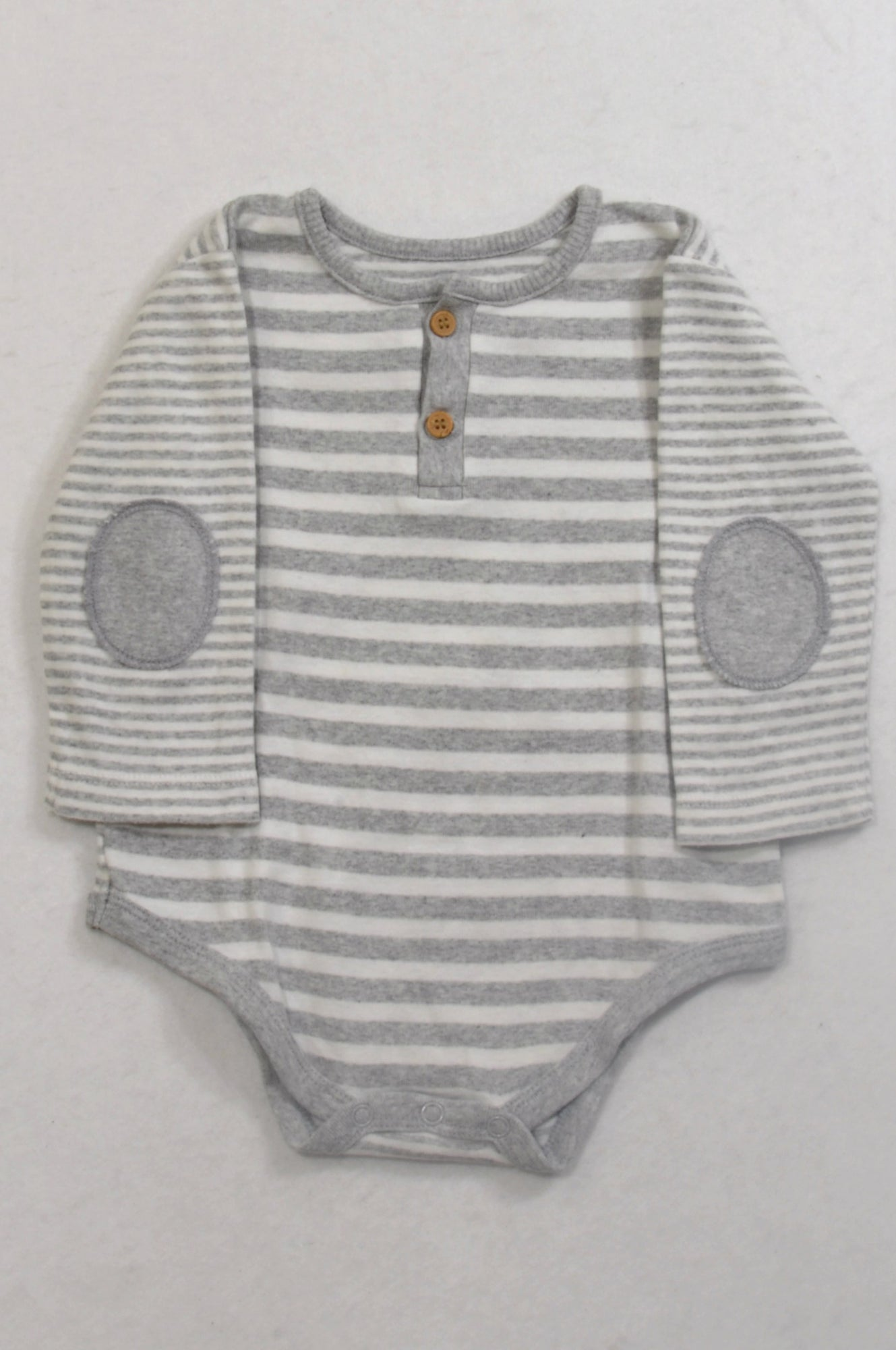 7eba4c95d Woolworths Grey   White Stripe Baby Grow Unisex 6-12 months – Once More