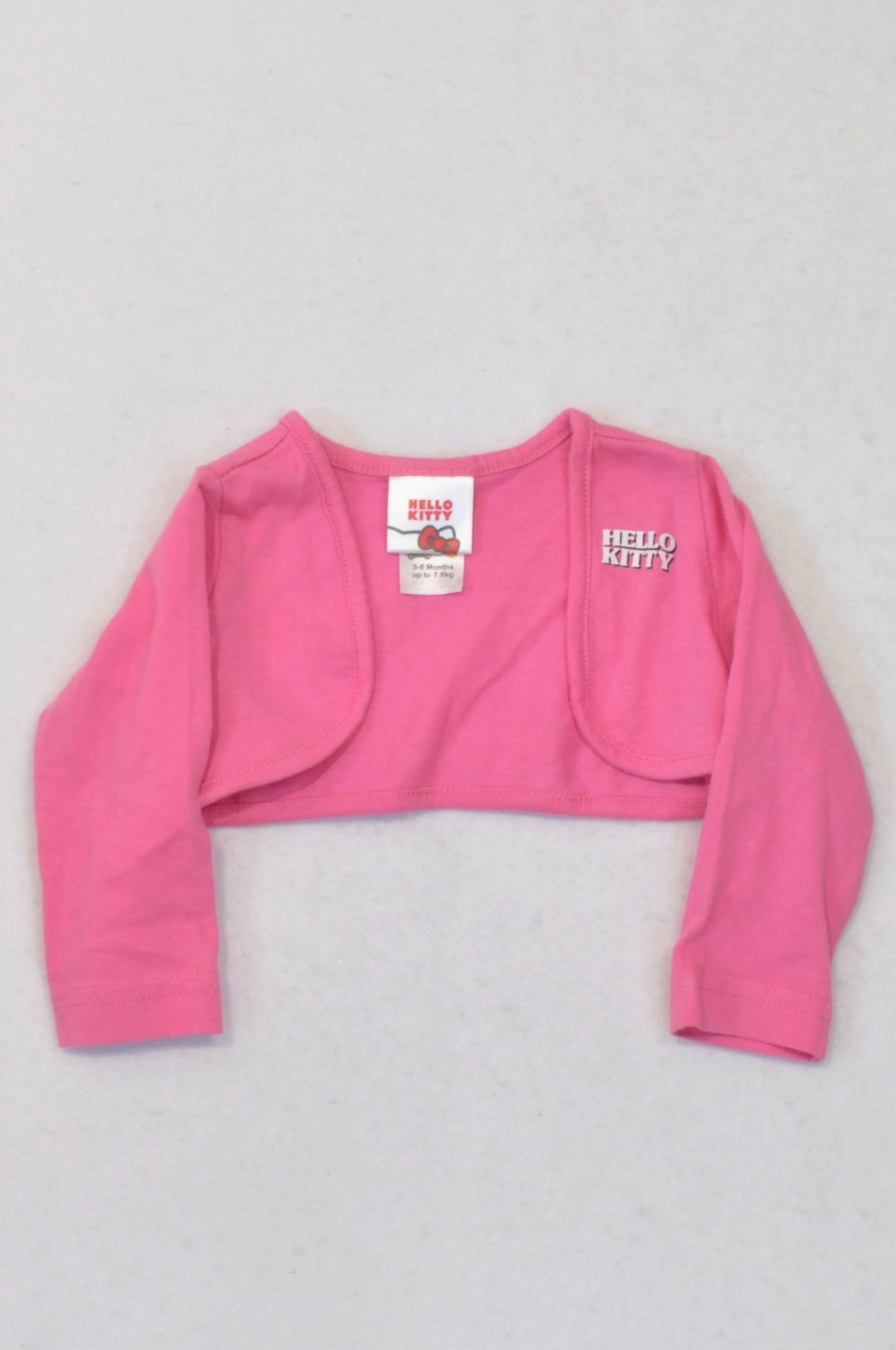 Edgars Hello Kitty Pink Cropped Open Cardigan Girls 3-6 months