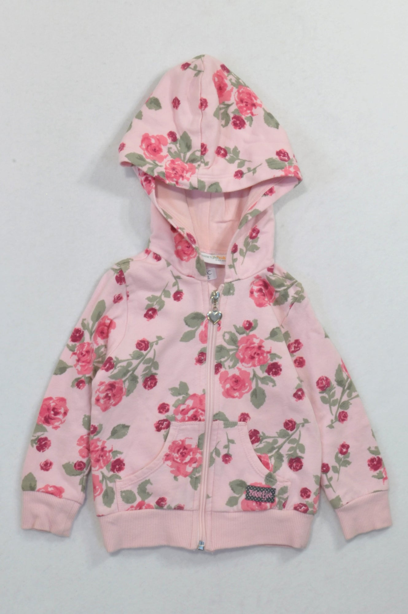 e61780ba4 Naartjie Soft Pink Floral Hoodie Girls 6-12 months – Once More
