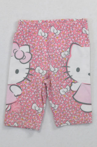 8bce7ef78 Hello Kitty Pink Floral Cropped Leggings Girls 12-18 months
