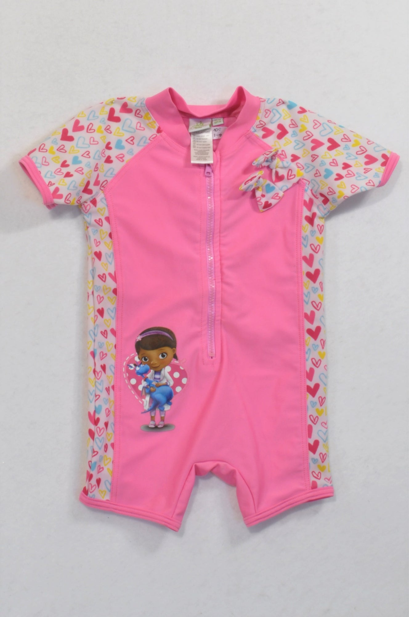 2512f4282bf97 Disney Pink Doc McStuffins Swimsuit Girls 12-18 months – Once More