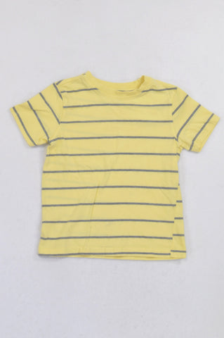 Pick 'n Pay Yellow & Grey Thin Stripe T-shirt Boys 7-8 years