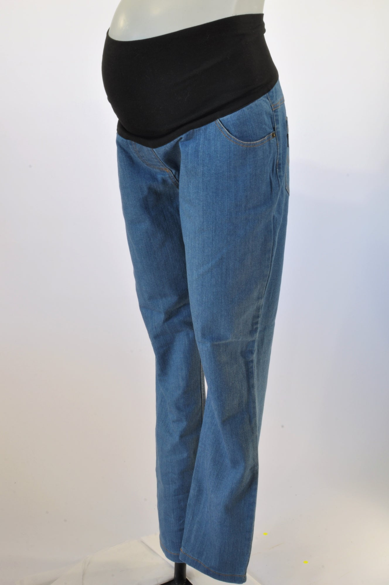 e1948ab321beb Cherrymelon Blue Relaxed Fit Denim Maternity Jeans Size 14 – Once More