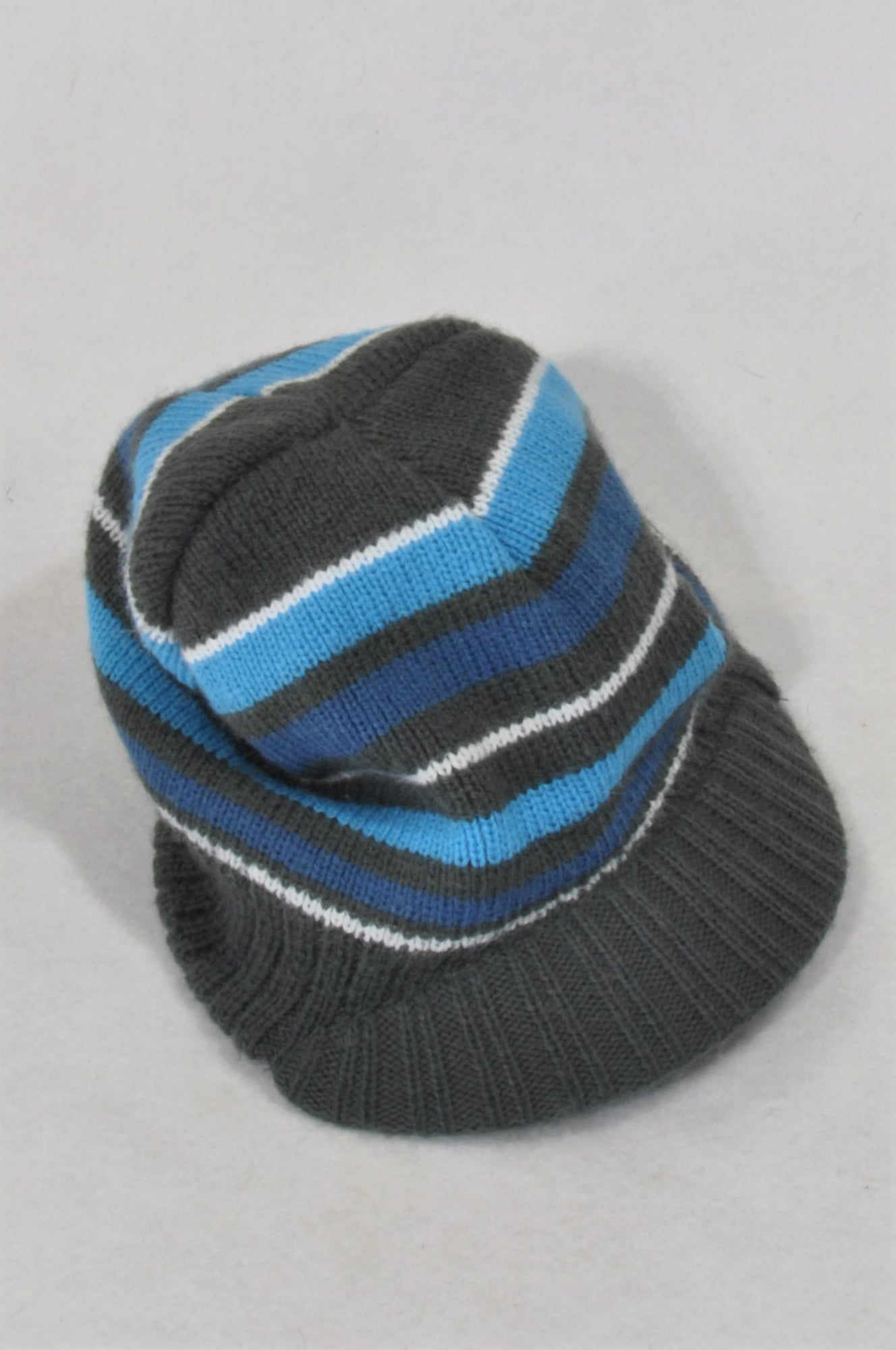 Ackermans Charcoal & Blue Stripe Knit Hat Boys 2-3 years