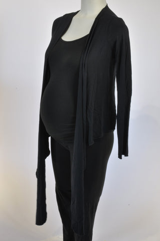 Marks & Spencers Black Open Waterfall/Wrap Maternity Top Size 10-12