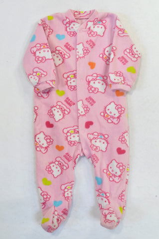 1d08fb55e Woolworths Pink Hello Kitty Fleece Onesie Girls 12-18 months