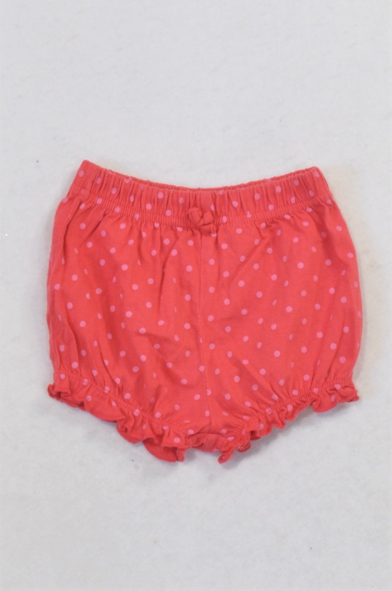 Ackermans Cerise & Pink Polka Dot Bubble Shorts Girls 3-6 months