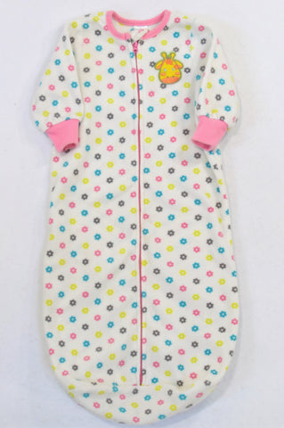 aBoo Cream Floral Giraffe Sleep Sack Girls 6-12 months