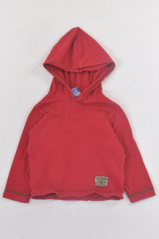 Naartjie Basic Red Hooded T-shirt Boys 6-12 months