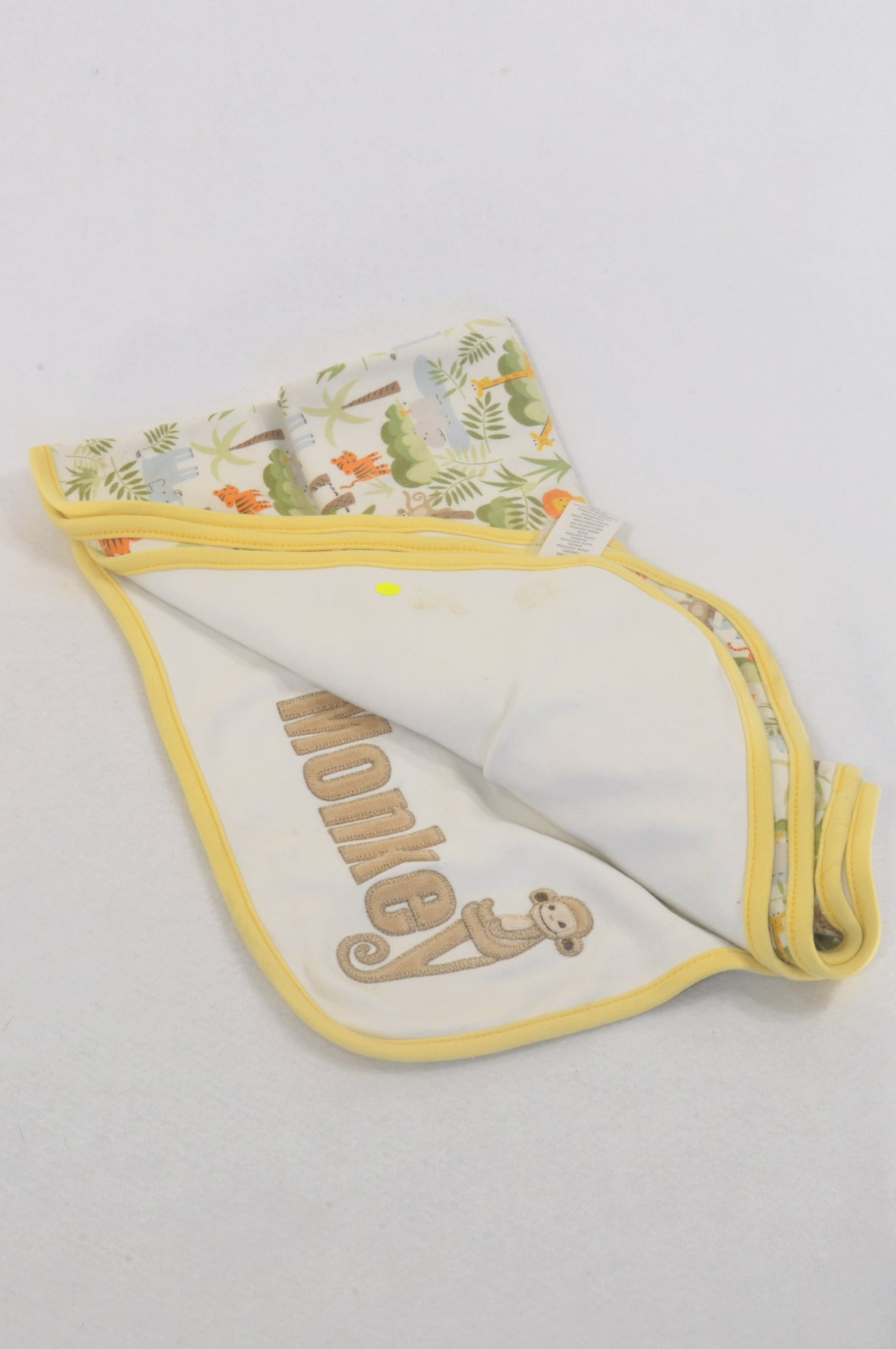 Gymboree Jungle Animals Yellow Trim Blanket Unisex N-B to 2 years