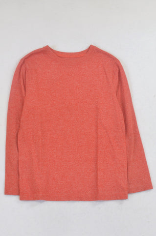 Woolworths Orange Heathered T-shirt Boys 7-8 years