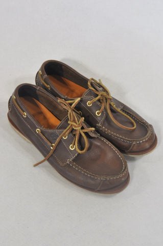 Timberland Size 4 Brown Boat Shoes Boys 7-8 years