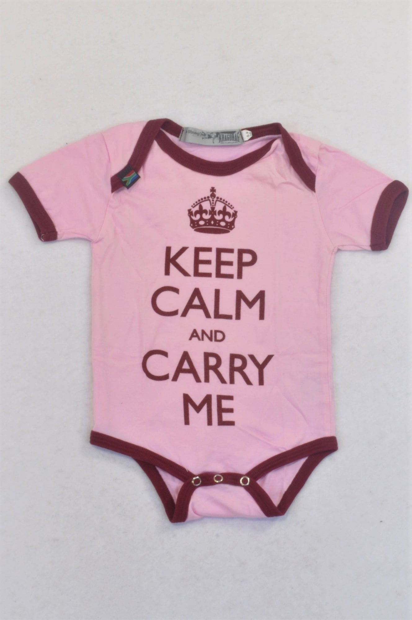 Kragdrag Pink & Burgundy Carry Me Baby Grow Girls 0-6 months