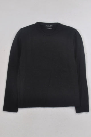 Zara Black Knit Pullover Fine Wool Jersey Boys 10-11 years