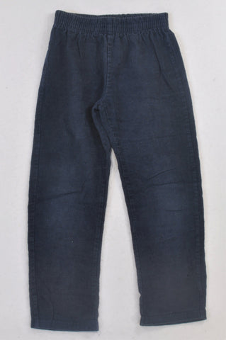 Woolworths Navy Corduroy Pants Boys 7-8 years
