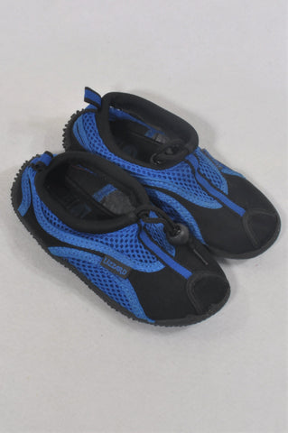 Lizzard Size 10 Black & Blue Swimming Shoes Unisex 4-5 years