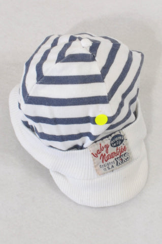 Naartjie Navy Striped Hat Boys 0-3 months