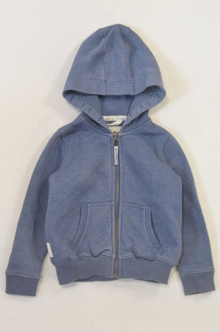 Next Muted Blue Fleece Lined Hoodie Unisex 2-3 years