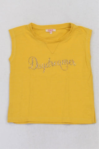 I'Kids Yellow Daydreamer T-shirt Girls 5-6 years