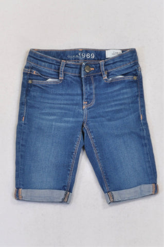 GAP Stone Washed Roll Up Denim Shorts Girls 6-7 years