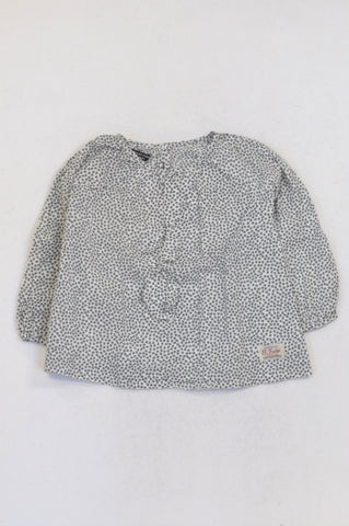 Sticky Fudge White Ditsy Floral Lightweight Blouse Girls 4-5 years