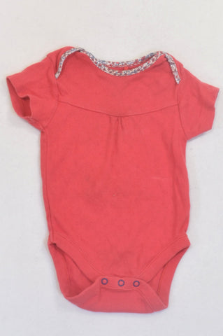 Next Coral & Heart Print Baby Grow Girls 6-9 months
