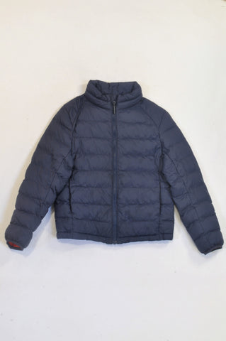 UNIQLO Navy Padded Compact Jacket Boys 7-8 years