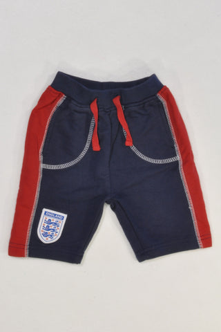 Official England Soccer Shorts Boys 0-3 months