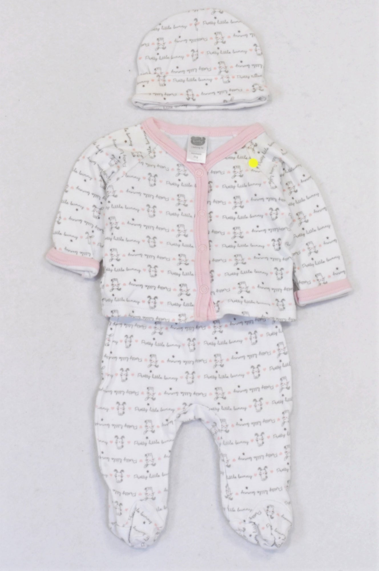 Ackermans Pink Little Bunny Outfit Girls N-B