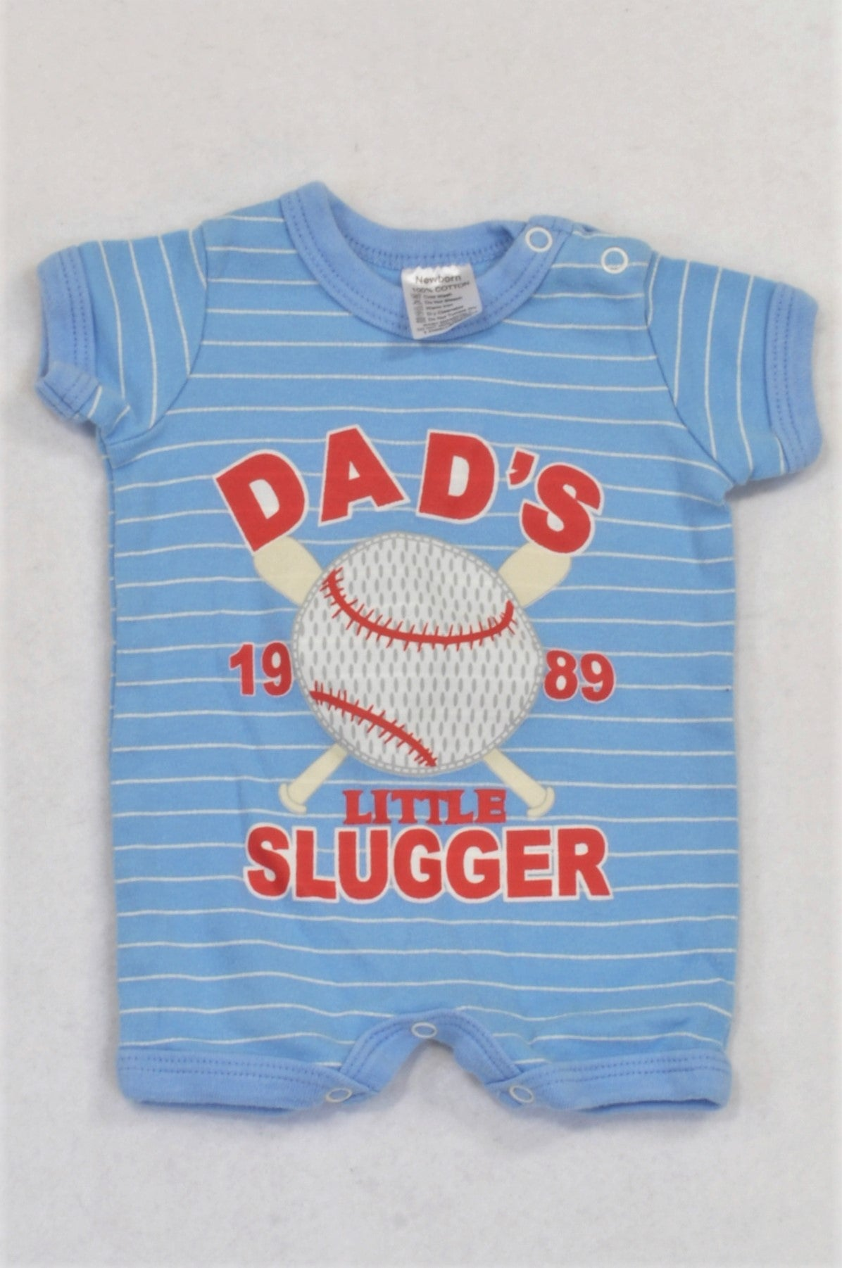 Blue Dad's Slugger Romper Boys N-B
