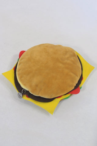 Typo Plush Hamburger Pencil Case Accessory Unisex 3-10 years