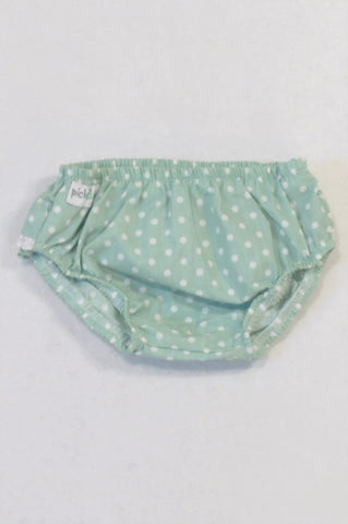 Pick A Lily Green Dotty Frill Detail Bloomers Girls 3-6 months