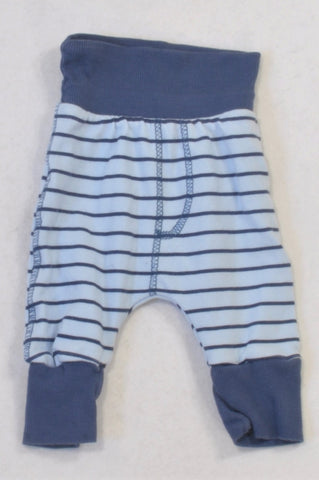 Woolworths Blue Stripe Harem Pants Boys N-B