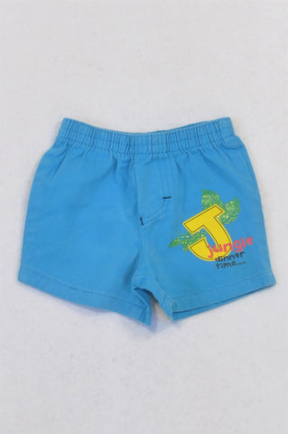 Edgars Blue Jungle Dinner Time Shorts Boys 0-3 months