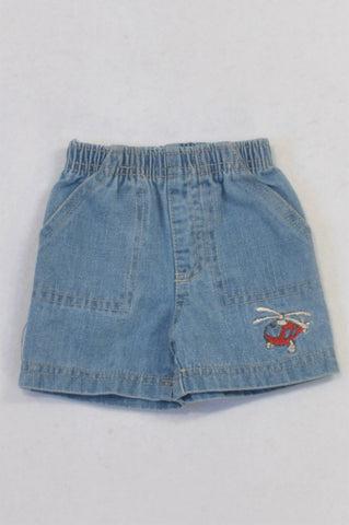 Mother's Choice Light Helicopter Denim Shorts Boys N-B