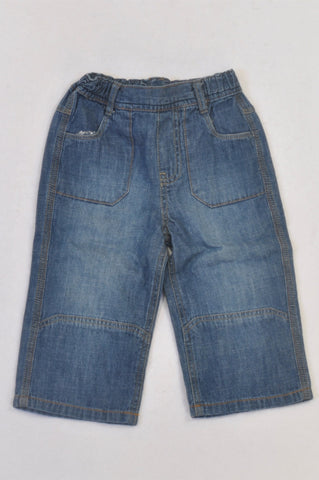 Edgars Stone Washed Wide Leg Jeans Boys 18-24 months